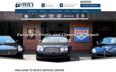 Pete's Service Center – Example of Our Better Website Design